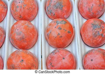Kaki fruit - Orange kaki fruits healthy vegetarian food...