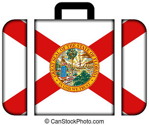 Suitcase with Florida Flag