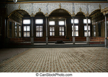 Hall inside Harem in Topkapi palace, Istanbul
