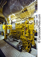 Tugboat diesel engine - The huge and powerful disel engine...