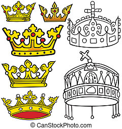 Royal Crown - Colored Heraldic Illustrations, Vector