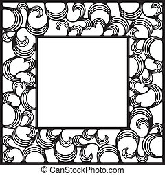 square frame - black square ornamental frame