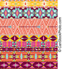 Aztec geometric seamless pattern