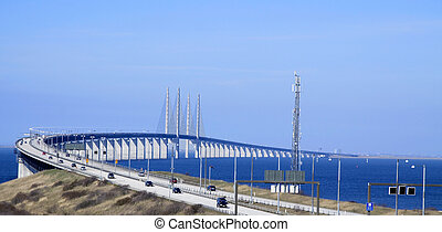 Bridge to Denmark - The start of the bridge between Sweden...