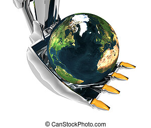 earth and excavator creative background