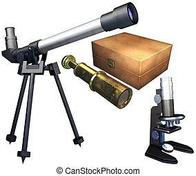Telescope and Microscope set