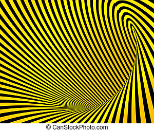 abstract yellow black creative techno tunnel background
