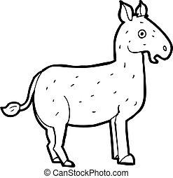 cartoon mule