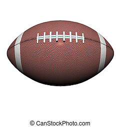 football isolated on a white background