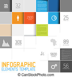 Vector abstract squares background illustration infographic...