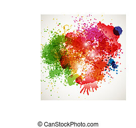 Abstract spots background with place for your text -...