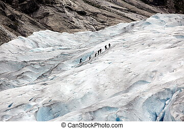 Norway, Jostedalsbreen National Park Famous Briksdalsbreen...