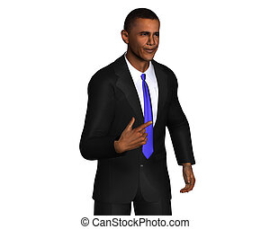 Barack Obama 3d model isolated on a white background