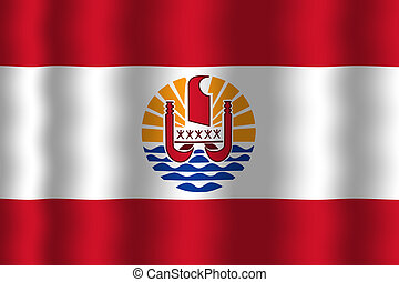 Waving French Polynesia Flag