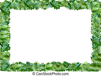 abstract foto frame - leaf abstract foto frame with white...
