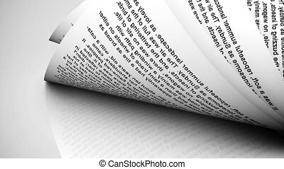 Close-up of rolled paper sheets. - Close-up of rolled paper...