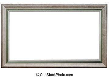 Picture frame isolated on white Clipping path included