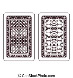 Design of playing cards Two variants on a white background