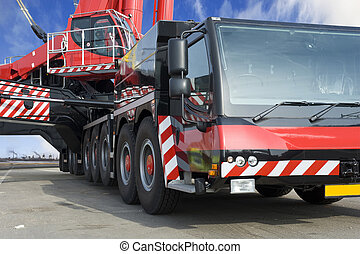 Huge Mobile crane - A close up of the worlds largest mobile...