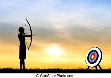 archery tournament - illustration of archery tournament