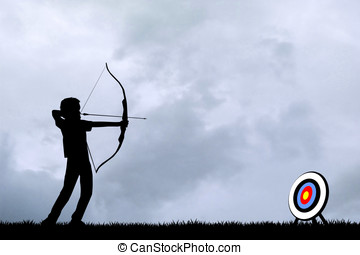 archery tournament - illustration of archery tournament at...