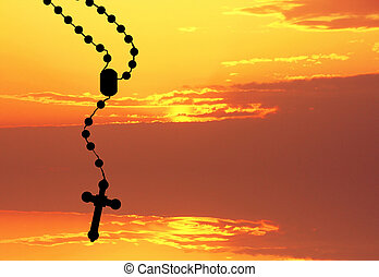 rosary silhouette