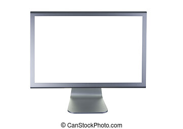 lcd monitor flat screen - computer lcd or tft monitor with...