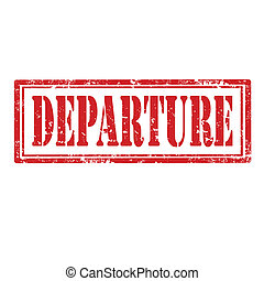 Departure-stamp - Grunge rubber stamp with word...