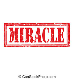 Miracle-stamp - Grunge rubber stamp with text Miracle,vector...
