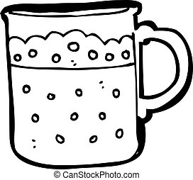 cartoon mug of beer