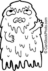 gross cartoon ghost