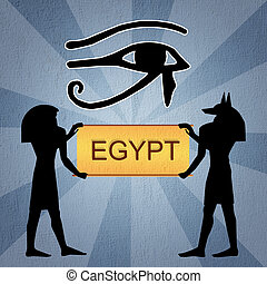Egyptian Horus eye - illustration of Horus eye