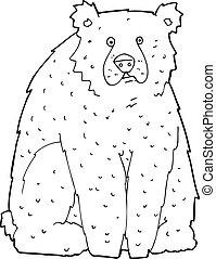 cartoon funny bear