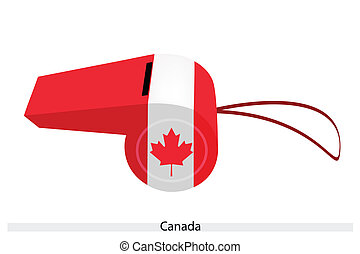 A Beautiful Blue Whistle of Canada Flag