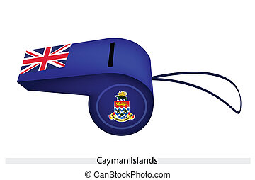 A Blue Whistle of Cayman Islands Flag