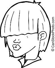 cartoon fashion haircut