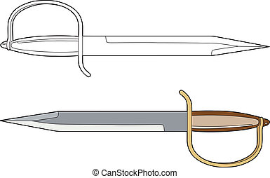 daggers - Vector illustration of a weapon, EPS 8 file