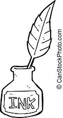 cartoon ink bottle