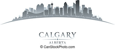 Calgary Alberta Canada city skyline silhouette Vector...