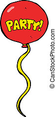 cartoon party balloon
