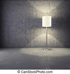Modern lamp in interior - Modern lamp in grunge interior