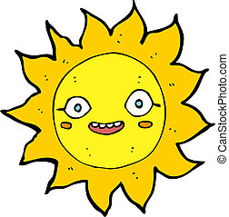 cartoon happy sun