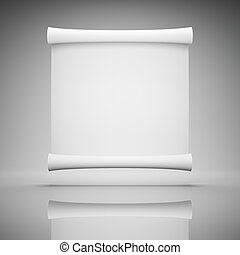 Blank advertisement - Blank roll of paper for advertising