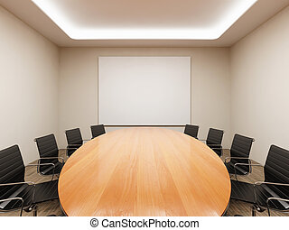Meeting room - Conference table and chairs in meeting room