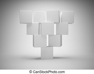 Abstract geometric shapes from cubes
