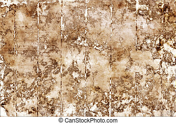 Flaking paint wall from boards - Flaking paint on the...