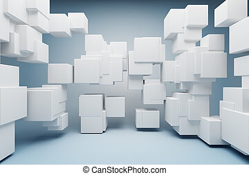 Abstract geometric shapes of the cubes