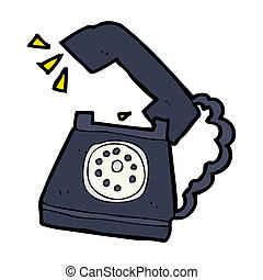 cartoon ringing telephone