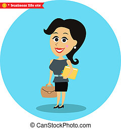 Smart office girl - Business women life Smart office girl...