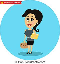 Smart office girl